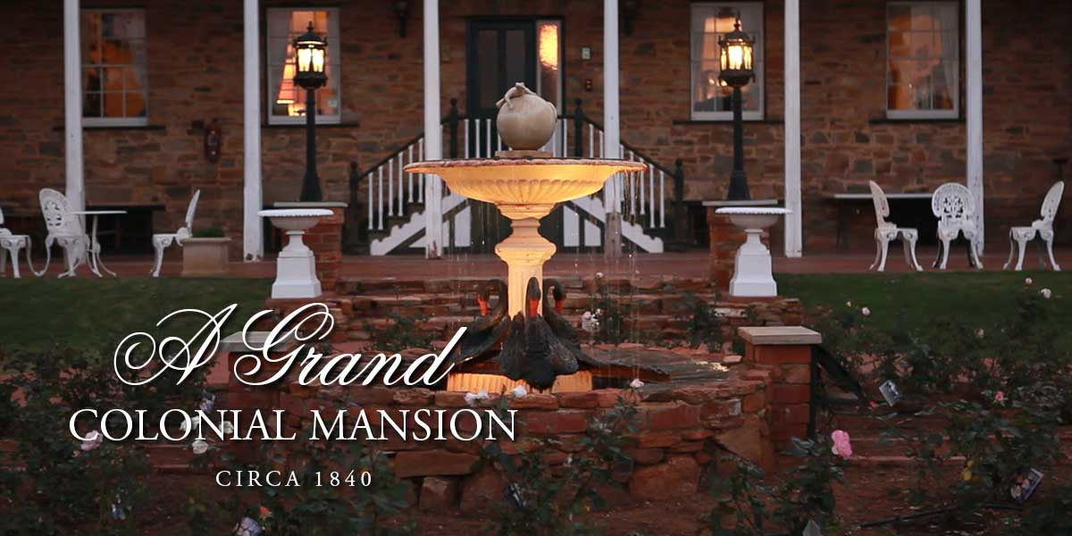 Grand colonial mansion front view