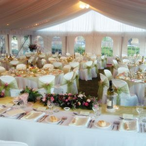 Chairs in marquee